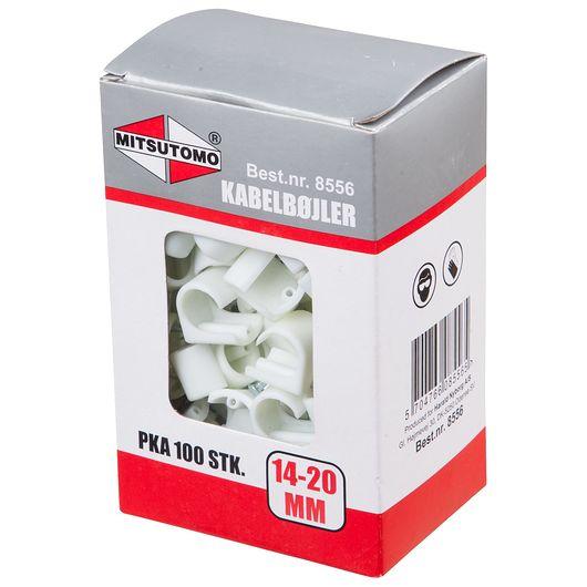 Kabelclips 14-20 hvid