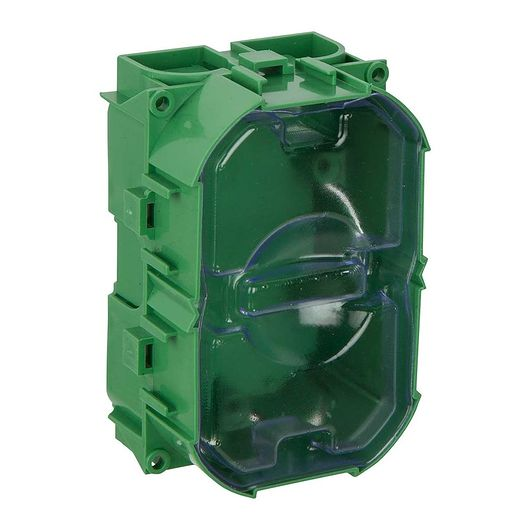 Indmuringsdåse 1½ modul grøn