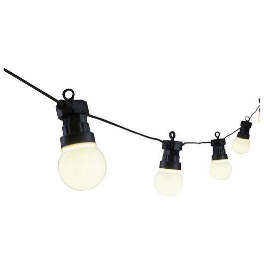 Lyskæde med 20 LED-pærer - varm hvid