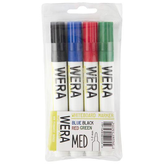 Wera whiteboardpenne 4-pak