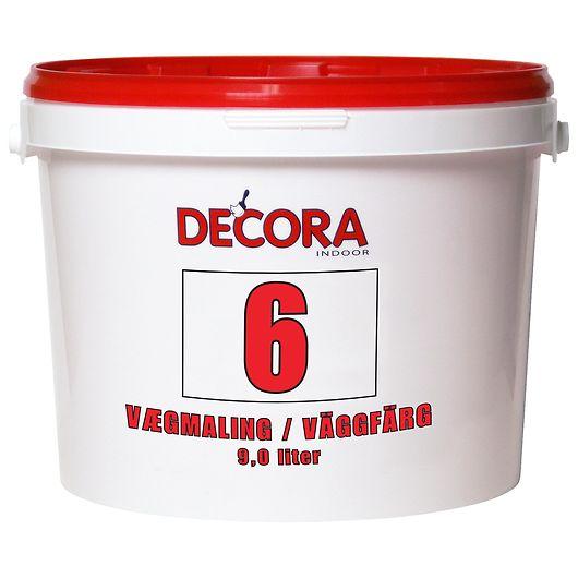 Decora - Vægmaling glans 6 hvid 9 L