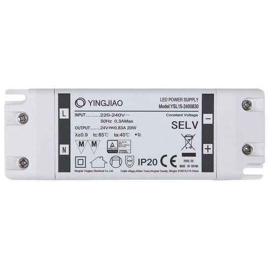 Strømforsyning LED 24V 20W
