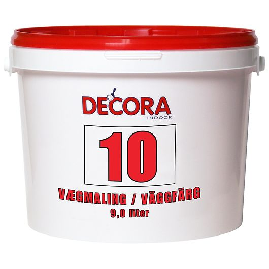 Decora - Vægmaling glans 10 hvid 9 L