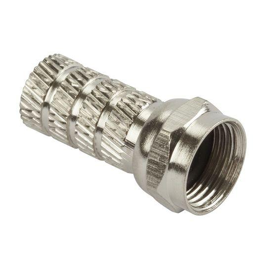 F-stik til 7 mm kabel 2-pak