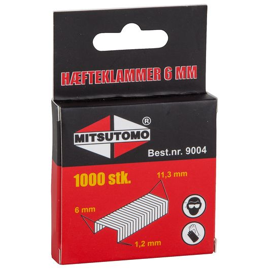 Mitsutomo - Hæfteklammer 6 mm