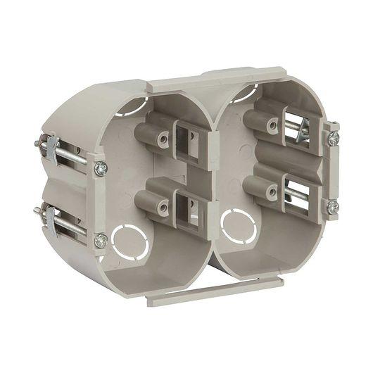 Forfradåse 2 x 1½ modul grå