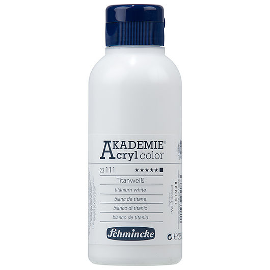 Akryl 250 ml titanium hvid