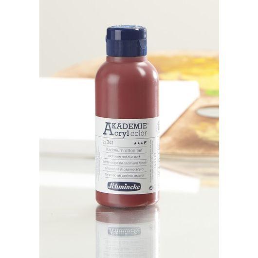 Schmincke - Akryl 250 ml - mørk kadmiumrød