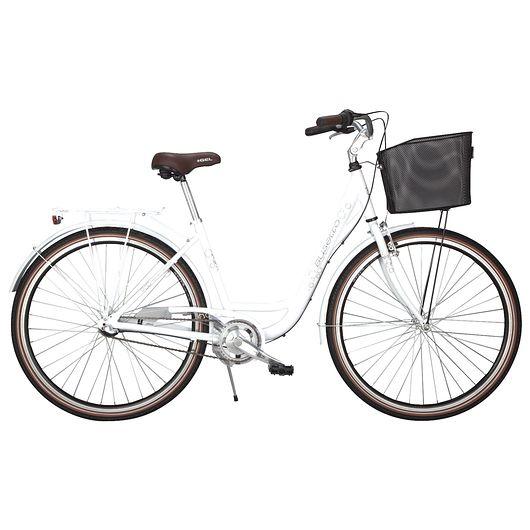 """Busetto - 28"""" shoppercykel - hvid"""