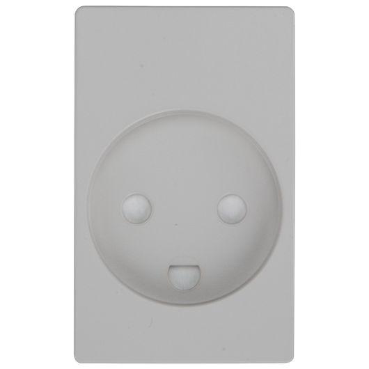 Tangent stikkontakt 1½ modul grå u/afbryd m/ jord