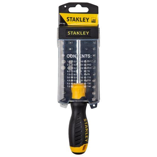 Stanley skruetrækkersæt 34 dele
