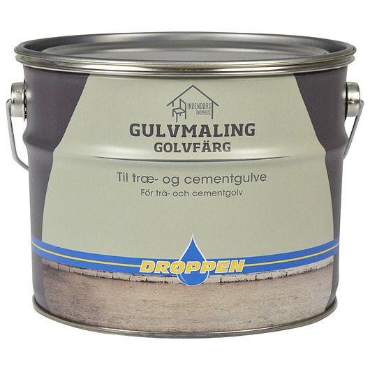 Droppen gulvmaling PU grå 2,5 L