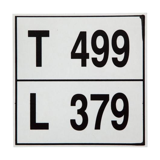 STEMA - Vægtlabel 499/379