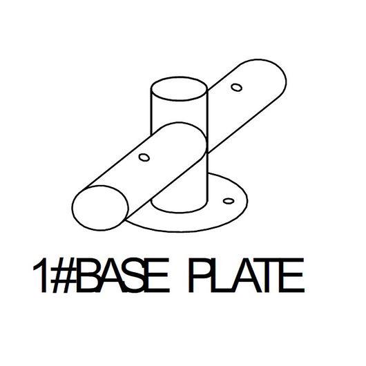 Base 1# til bundramme metal