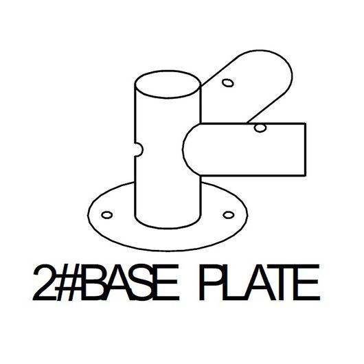 Base 2# til bundramme metal