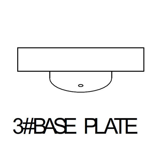 Base 3# til bundramme metal
