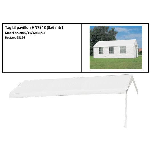 Tag til Partytelt Lux 3 x 6 m hvid